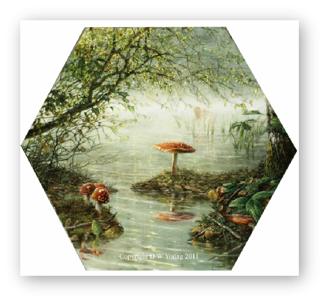 The Arsenic Pond painting by David W Young
