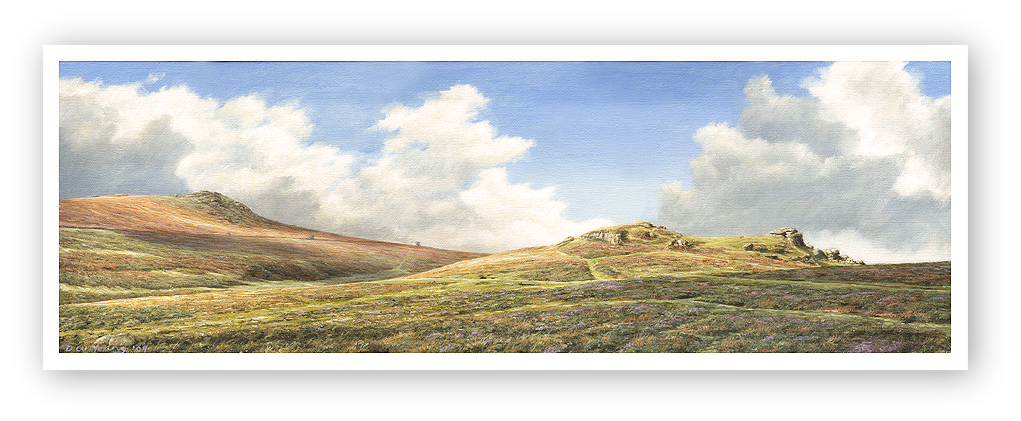 Saddle Tor & Rippon tor, Dartmoor painting