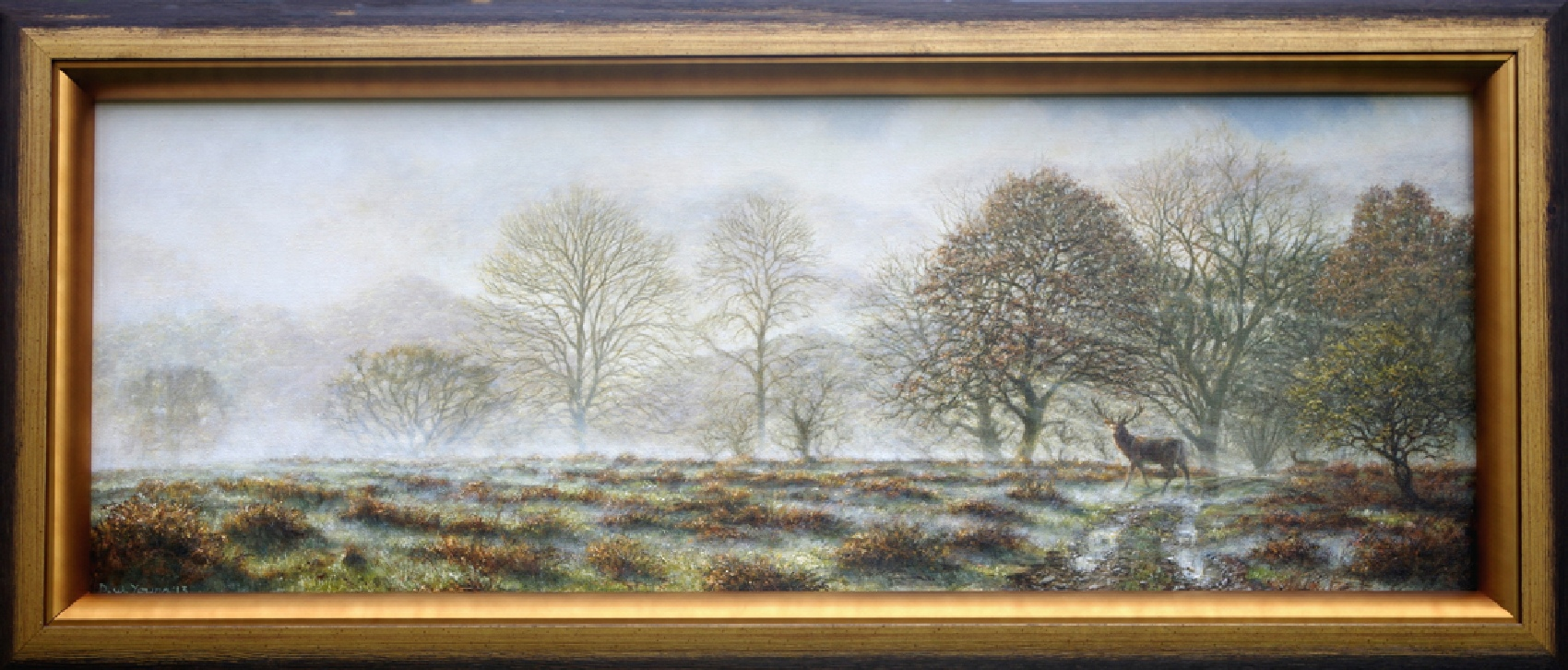 November, Dartmoors Ancient Woodlands painting by David William Young