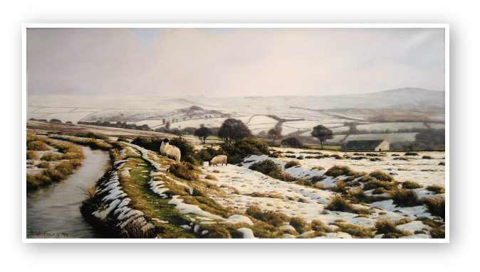 A Winter Landscape, The Leat Nattor Down, Dartmooroil painting by David William Young