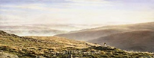 prints valley mists belstone dartmoor david william young paintings