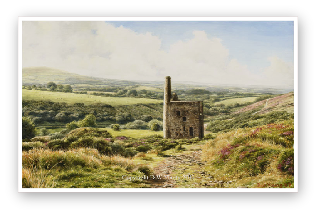 Wheal Betsy, Dartmoo painting by David William Young