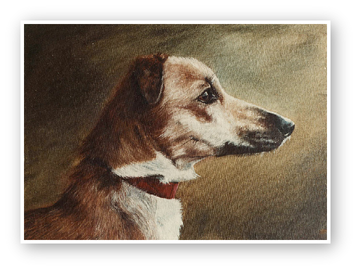Lurcher painting by David William Young