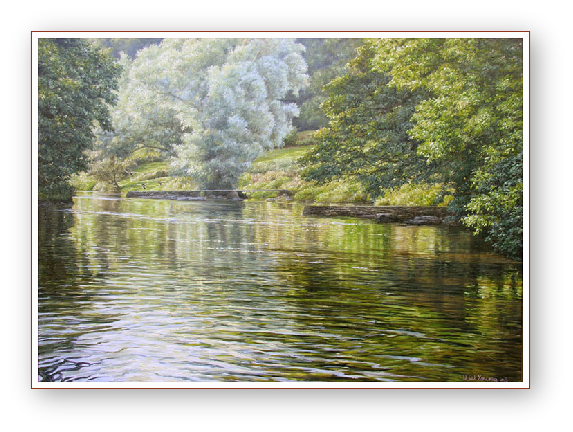The River, Tamar Valley painting by David W Young