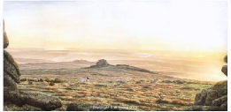 print staple tors dartmoor david young paintings