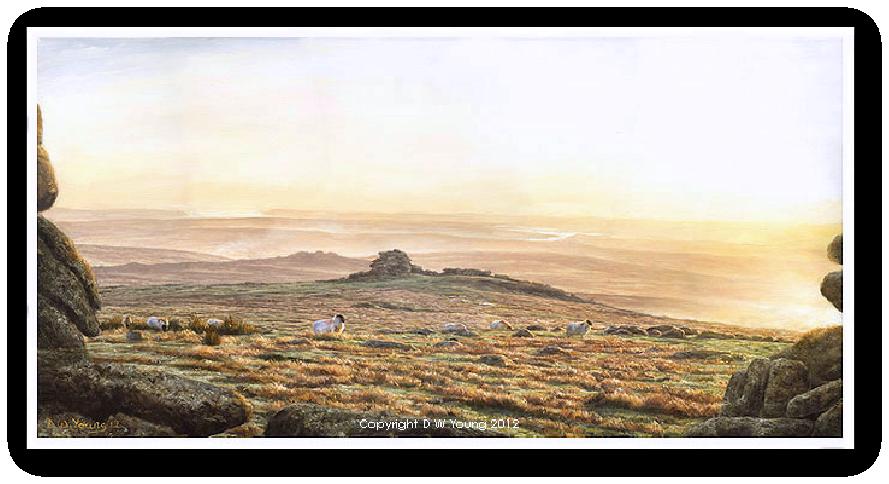 Staple Tors landscape, Dartmoor print enlargement