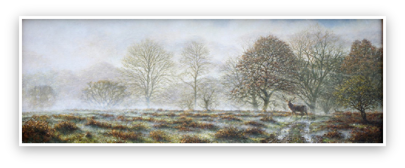 November-Dartmoors Ancient Woodlands painting by David William Young
