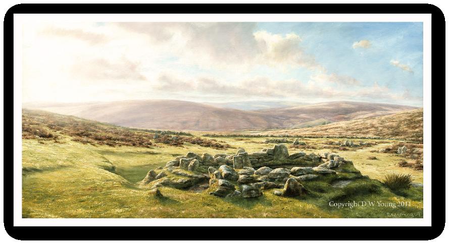 Grimspound, Dartmoor print enlargement