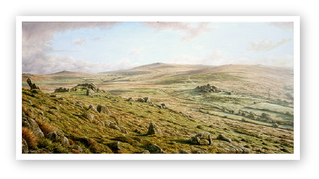 Ten Tors, Dartmoor painting