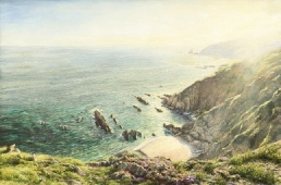 prints the cove portwrinkle south cornish coast  david young paintings