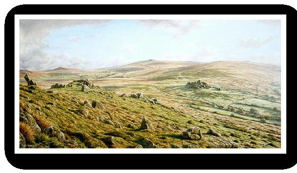 Ten Tors, Dartmoor painting by David W Young