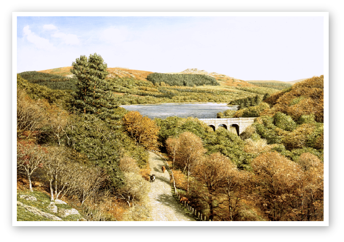 Burrator Reservoir, Dartmoor print enlargement