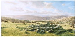 print grimspound dartmoor david young paintings