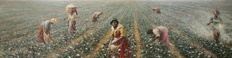 Cotton pickers and arsenic painting by David William Young