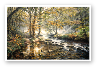 The East Okement riverl, Dartmoor painting by David W Young