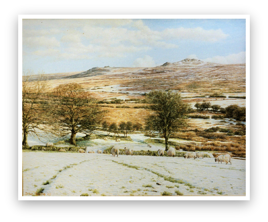 Yellowmead Farm, Dartmoor painting by David Young