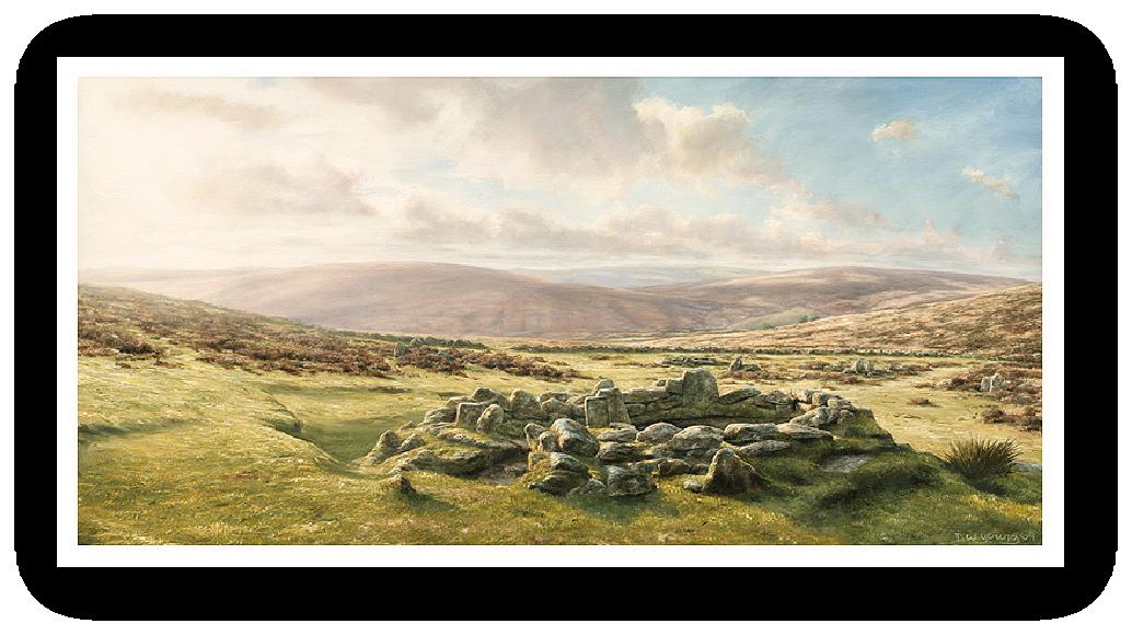 Grimspound, Dartmoor painting