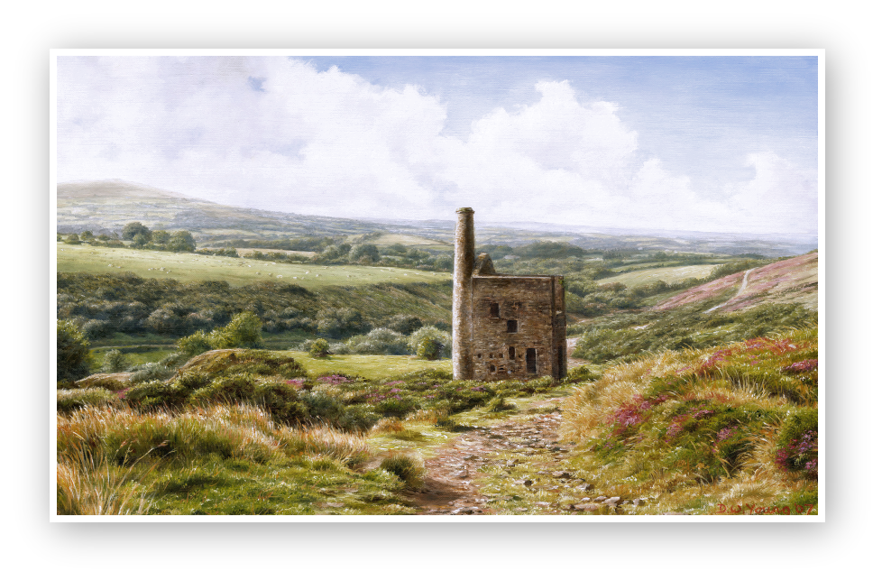 Wheal Betsy Engine House oil painting by David William Young