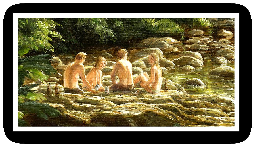 Batihng in the sun River Dart detail