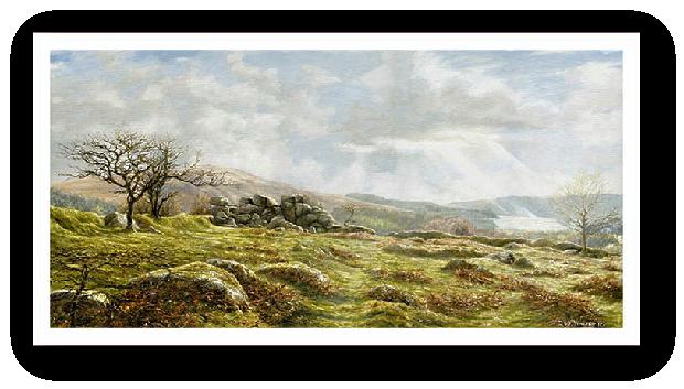 Burrator Panorama, Dartmoor painting by David W Young