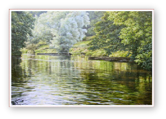 The River, Tamar valley painting by David William Young