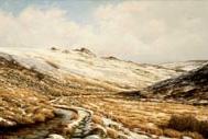 print winter solstice tavy cleave dartmoor david young paintings