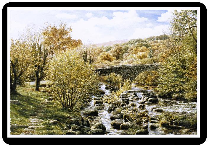 painting of Dartmeet, Badgers Holt, Dartmoor print enlargement