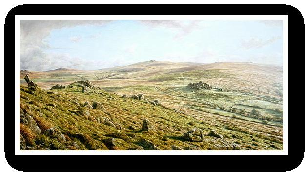 Ten Tors, Dartmoor paintings by David William Young