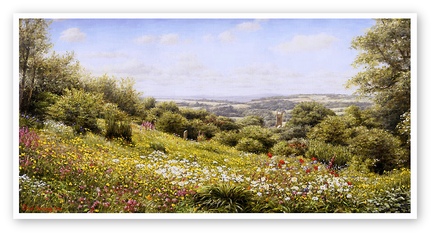 The Garden House, Devon print enlargement