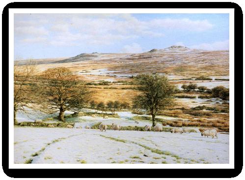 Yellowmead Farm, West Dartmoor painting
