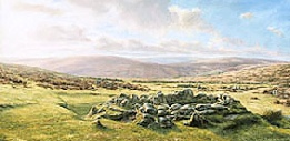 print grimspound dartmoor david young paintings