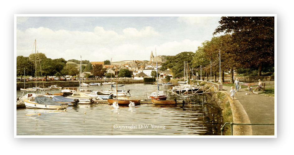 Kingsbridge painting enlargement by David Young