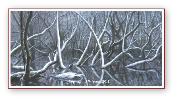 The Winter of my Mind painting by David W Young