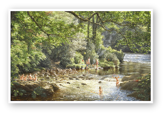The Eternal Summer (skinny dipping on the Dart) painting by David William Young