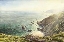 printsc the cove portwrinkle cornish coast  david young paintings