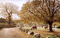 print widecombe in the moor david william young paintings