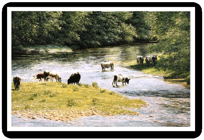 Long Summer Days, River Tamar painting