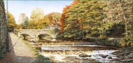 prints abbey bridge tavistock weir david young paintings