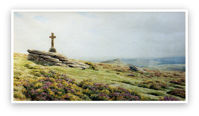 Cave Penny Cross, Yar Tor, Dartmoor by David Young artist