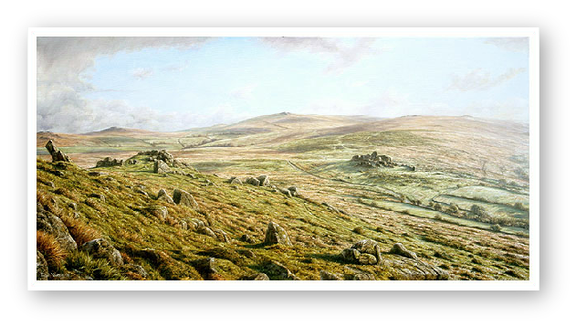 Ten Tors, Dartmoor painting by David W Young