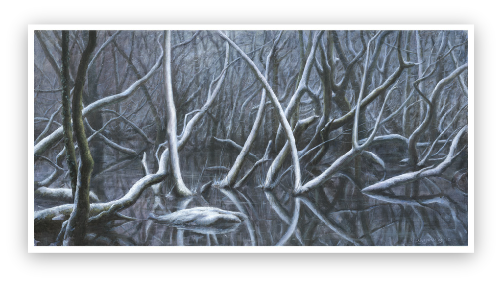The Winter of my Mind painting by David William Young Anthropocene paintings