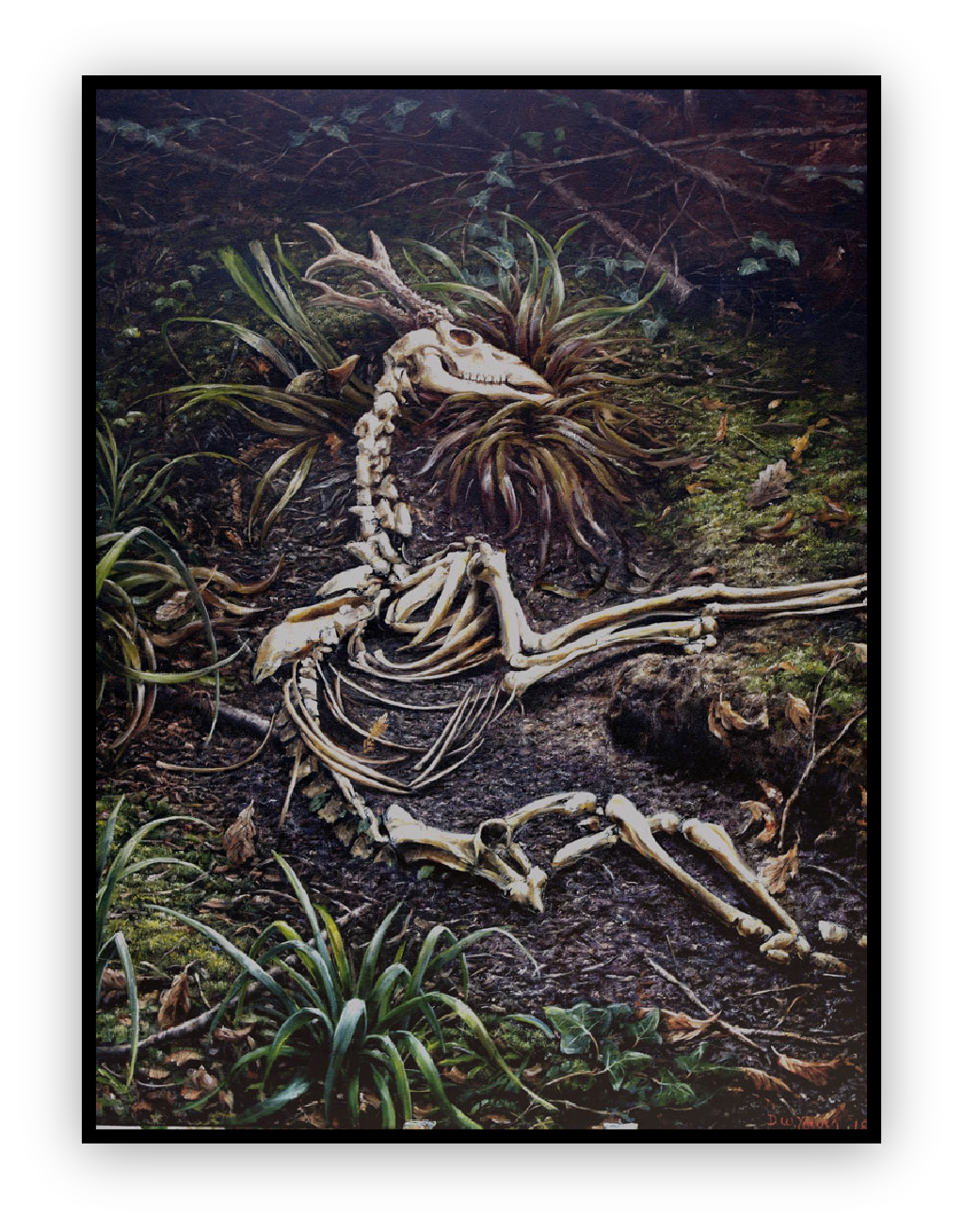 Dying is so Lonely painting by David William Yooung Anthropocene paintings