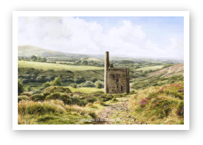 A Dartmoor Rainforest The Dart Valley in Summer Haze painting by David William Young