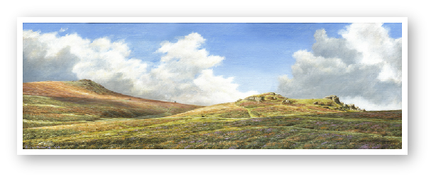 Saddle Tor & Rippon Tor , Dartmoor painting by David W Young