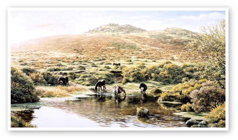 Simons Lake, Sharp Tor, Dartmoor painting
