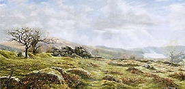 print burrator panorama dartmoor david young paintings