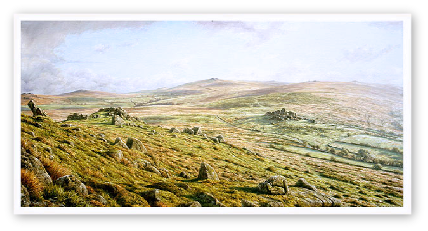 The Watering Hole, Taw marsh, Dartmoor print enlargement